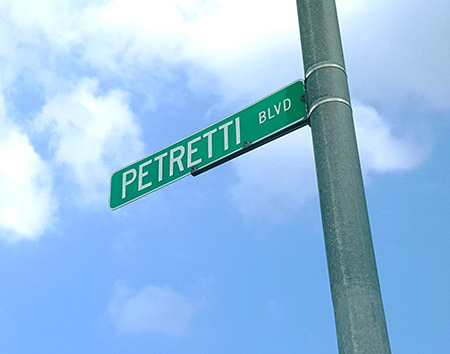 Petretti BLVD Sign